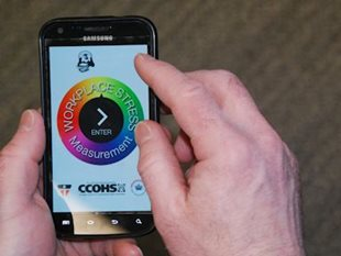 Smartphone APP helps target workplace stress